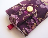SALE Chenille Case Handmade for iPod iPhone Blackberry - VIOLET FUSION