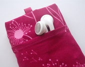 SALE WATER RESISTANT PADDED Handmade iPod iPhone Sleeve with Pocket-BLOWN AWAY