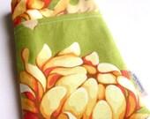 SALE - Chrysanthemum -Minky Chenille Handmade iPod/iPhone Sleeve with Pocket