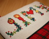 Personalized Counted Cross Stitch Christmas Stocking, Christmas Alphabet