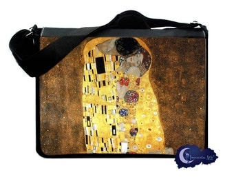 The Kiss by Gustav Klimt -  Messenger & Laptop Bag