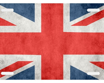 Union Jack, British Flag License Plate