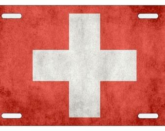 Swiss Flag - Switzerland License Plate