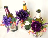 Wedding Decoration Vineyard Weddings Centerpieces Wine Bottle toppers Purple rustic woodland bridal accessory wedding reception decor