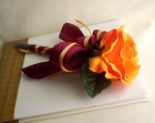 Guest Book Signing Pen Orange Rose Tangerine Weddings