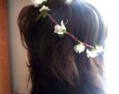 Floral crown Wedding Trends Flower girl Halo, Bridal Head Wreath Woodland Weddings -Wendy- ivory Brown Rustic chic floral wreath accessories