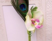 Peacock Wedding Accessories, Feather Pen for Guest Signings