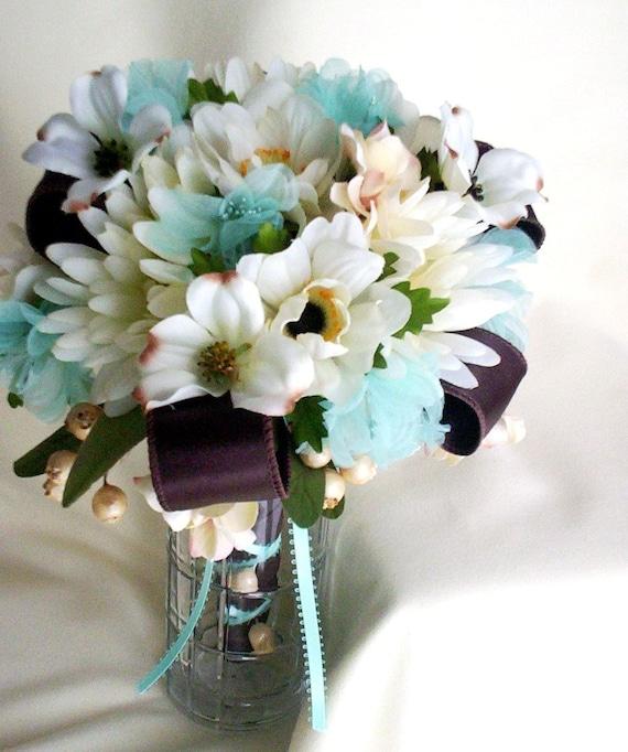 Beach Wedding Flowers: Items Similar To Beach Bridal Bouquet Aqua Custom Beach
