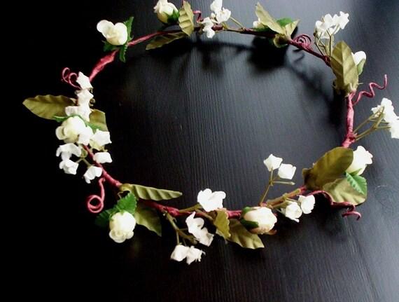 Bridal Flower Wreath For Hair : Wedding hair wreath brides flower girl first communion