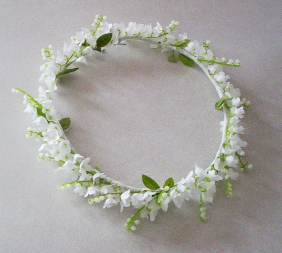 wedding flower crown lily of the valley caroline flower girl, Beautiful flower