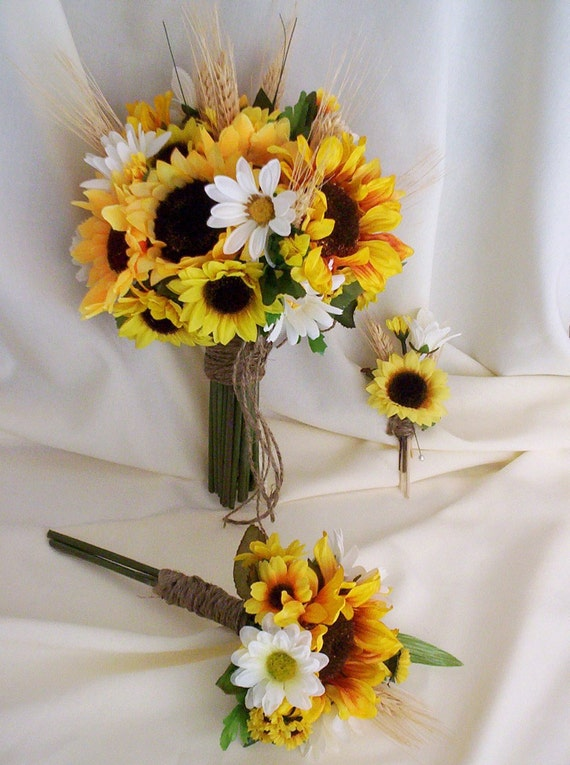 sunflower bouquets for weddings items similar to bridal bouquet sunflower wedding flower 7823
