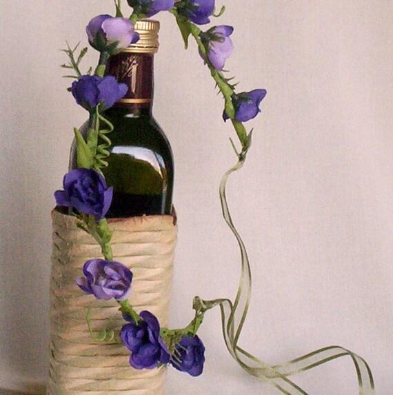 Flower Crown Vineyard Wedding Hairpiece - Aggie- Purple hair wreath circlet Bridal Halo bridesmaid acessories hairwreath flower girl halo