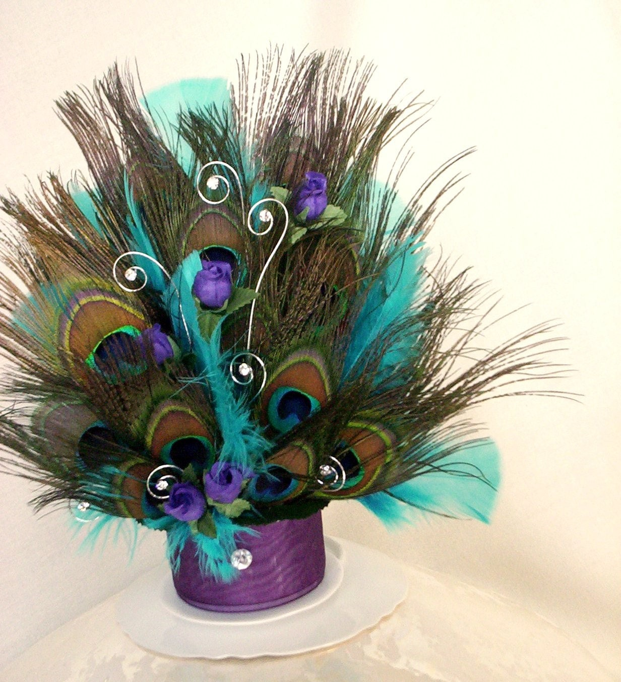 Peacock Feather Wedding Cake: Peacock Over The Top Wedding Cake Topper An AmoreBride