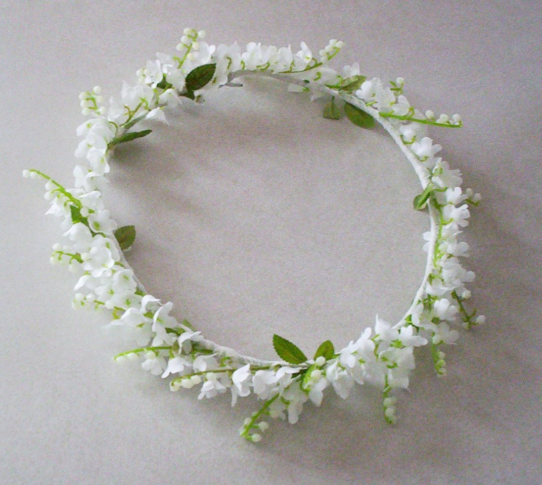 Lily Of The Valley Wedding Flowers: Wedding Flower Crown Lily Of The Valley Bridal Veil