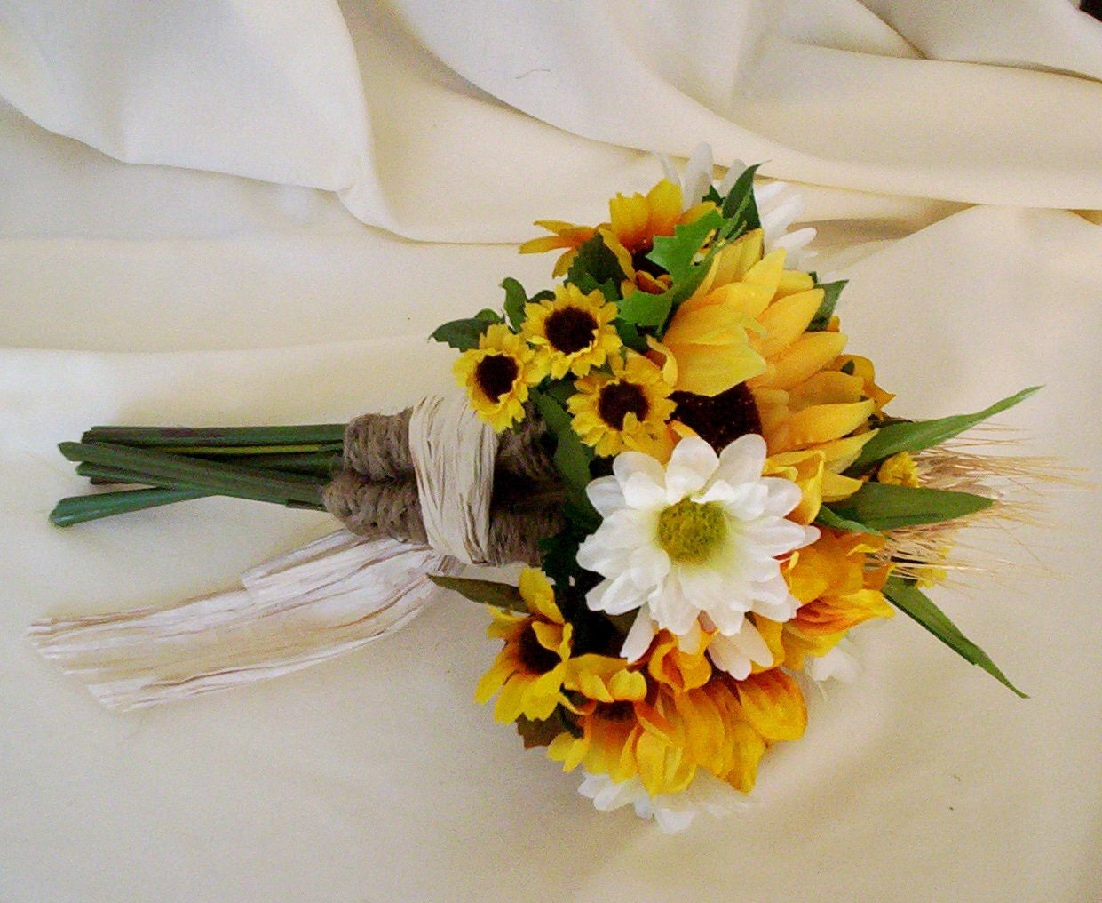sunflower bouquets wedding flower package 17 pieces custom for. Black Bedroom Furniture Sets. Home Design Ideas