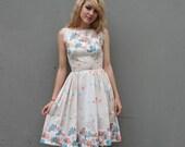 AROUND THE WORLD 50s Novelty Sun Dress, xs