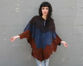 NATIVE SPIRIT 60s Layered Suede Zip Up Cape, osfa...RESERVED