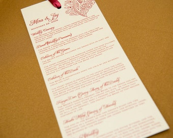 Downloadable Hindu Wedding Program