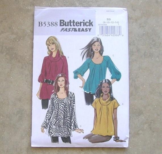 Butterick 5388 - A New Wardrobe of Tops Pattern