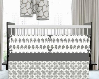 Baby Bedding - Custom Bumper, Baby Blanket, Crib Skirt, Fitted Sheet :  Custom Designed by You