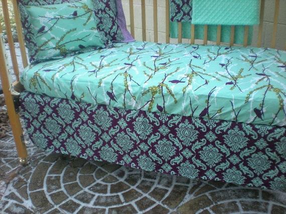 Standard Crib Skirt  -  Custom Crib Bedding - You Pick The Fabrics