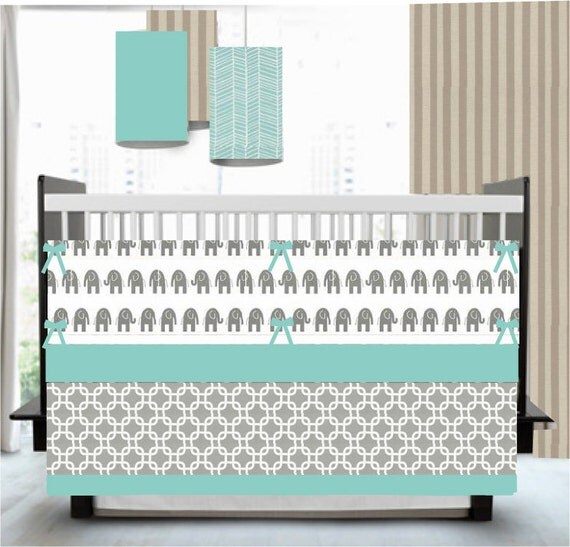 teal crib bedding set 1