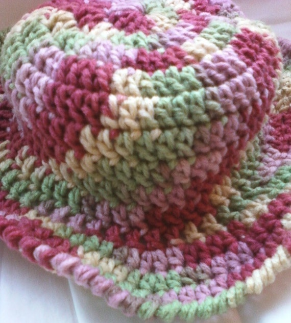 Crocheted Girls Sunny Day Hat - Summerset Ombre