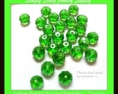 6x8mm Multi-Faceted Peridot Crystal Rondelles - 25 pieces