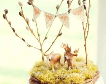 Forest Full of Love, Deer Wedding Cake Topper