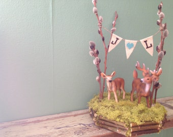 Forest Full of Love 5 inch Deer Cake Topper