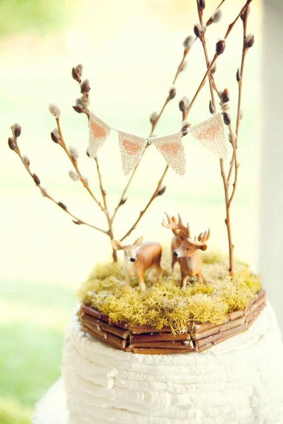 Forest Full of Love, Deer Wedding Cake Topper