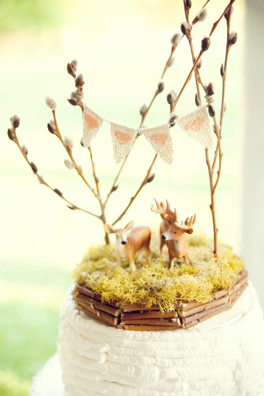 wedding cakes in red deer forest of deer wedding cake topper by afoxwedding 24752