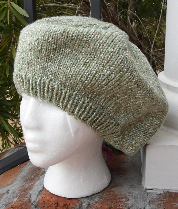 Multi-Green Knitted Beret