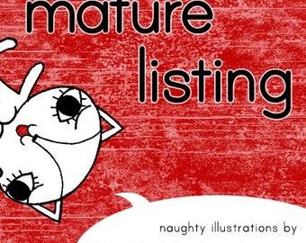 Cartoon Kitty Style Naughty Rubber Stamp Mature