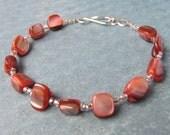 Chunky Pink Shell Bracelet
