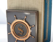 Nautical Book Ends S Initial Vintage Brass Anchors