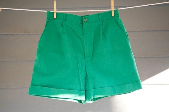 Kelly Green Vintage Shorts Summer