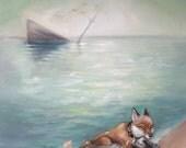 Fox Sea ship - Art Print