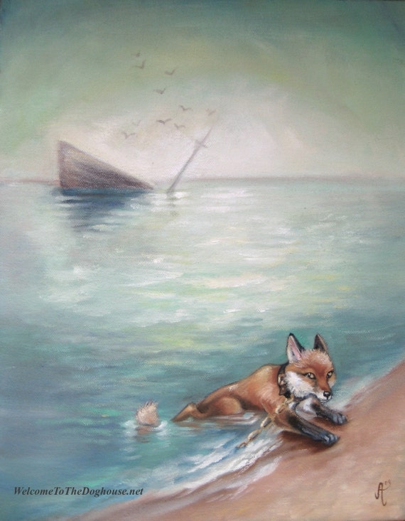 Fox Sea ship - Art Print