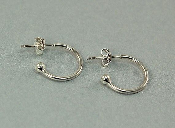 Sterling Silver Post Earrings - Hoop Earrings