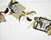 WELCOME to the NEST Banner Baby Shower Garland  Bird Eggs