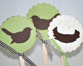 It's a Girl or Boy Cupcake Toppers Bird Nest Baby Shower Decorations