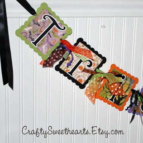 Trick or Treat HALLOWEEN Banner Party Decoration READY to SHIP