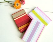 Miniature Striped Journals - 1/12 Scale Dollhouse Miniature