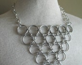 Huge Japanese Triangle Chain Mail Necklace
