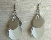 Graduated Confetti Chainmaille Earrings in Silver