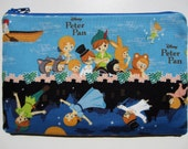 Pencil/Cosmetics Case - Peter Pan, Wendy Darling, Captain Hook, Tinker Bell out for adventure