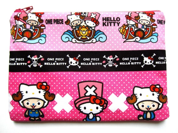 Pencil/Cosmetics Case (Extra Large) - Hello Kitty x One Piece's Chopper