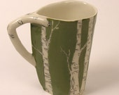 New Color - Sage Green Birch Tree Cup