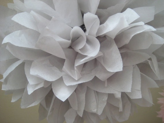 Light Gray - 1 Tissue Paper Pom Pom Kit - Portland Original